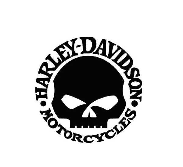 Pegatinas Harley Davidson Calaveras
